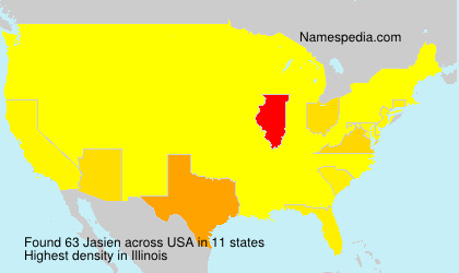 Surname Jasien in USA