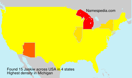 Surname Jaskiw in USA