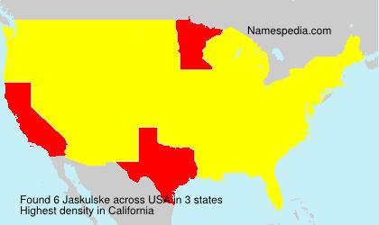 Surname Jaskulske in USA