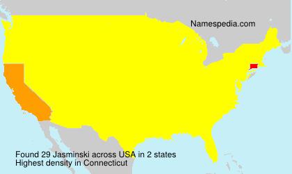 Surname Jasminski in USA