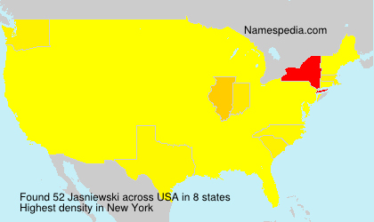 Surname Jasniewski in USA