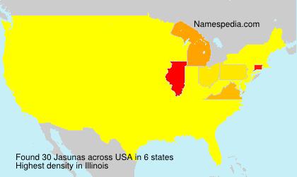 Surname Jasunas in USA