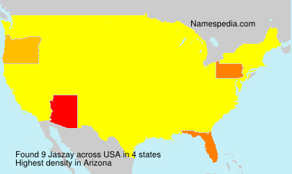 Surname Jaszay in USA