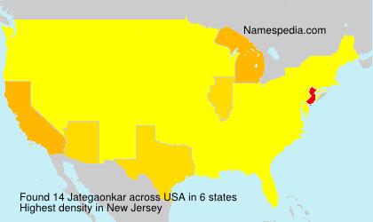 Surname Jategaonkar in USA