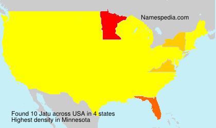 Familiennamen Jatu - USA