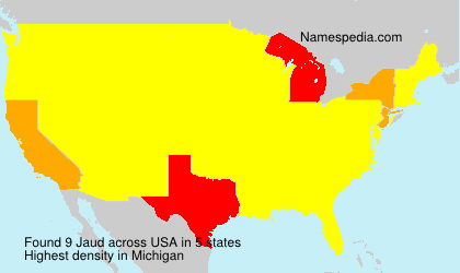 Surname Jaud in USA