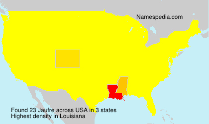 Surname Jaufre in USA