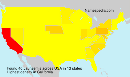 Familiennamen Jaunzemis - USA
