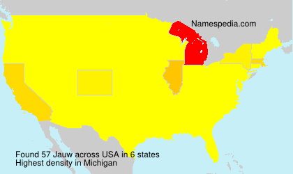 Surname Jauw in USA