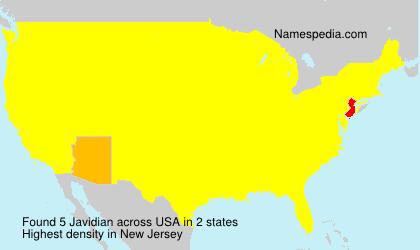 Surname Javidian in USA