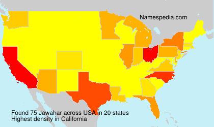 Surname Jawahar in USA