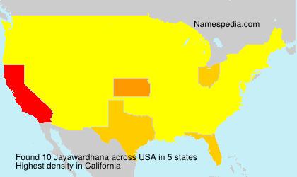 Familiennamen Jayawardhana - USA