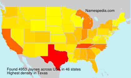Surname Jaynes in USA