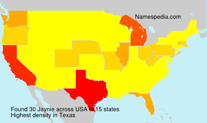 Surname Jaynie in USA