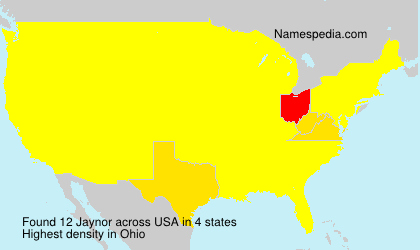 Surname Jaynor in USA