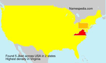 Surname Jbari in USA