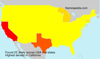 Surname Jbeily in USA