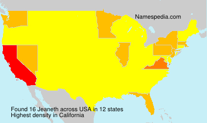 Surname Jeaneth in USA