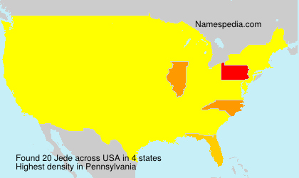 Surname Jede in USA