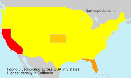 Surname Jednoralski in USA