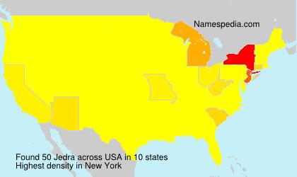Familiennamen Jedra - USA