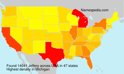 Surname Jeffery in USA