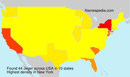 Surname Jeger in USA