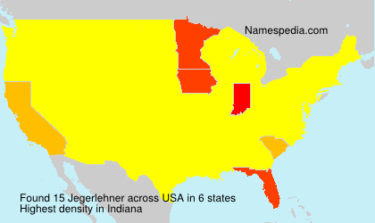 Surname Jegerlehner in USA