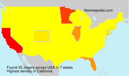 Surname Jegers in USA