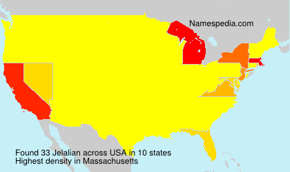 Surname Jelalian in USA