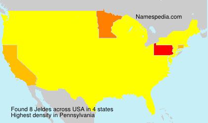 Familiennamen Jeldes - USA