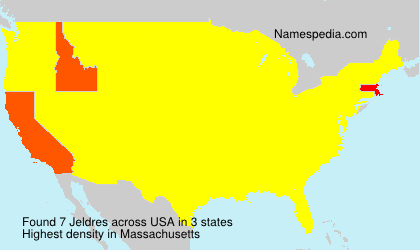 Surname Jeldres in USA