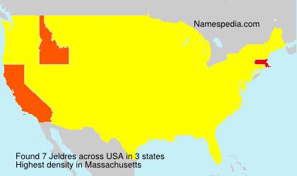 Surname Jeldres in USA