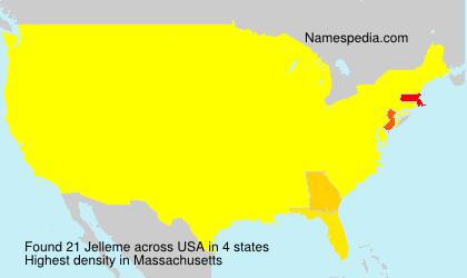 Familiennamen Jelleme - USA