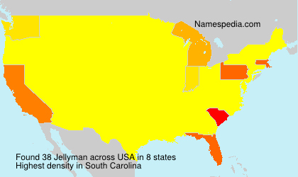 Surname Jellyman in USA