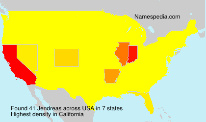 Surname Jendreas in USA