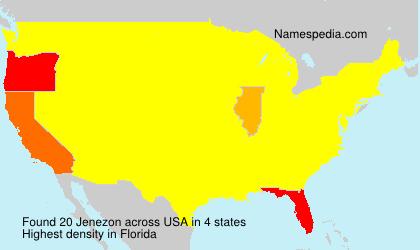 Familiennamen Jenezon - USA