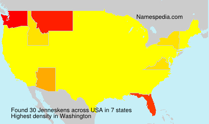Surname Jenneskens in USA