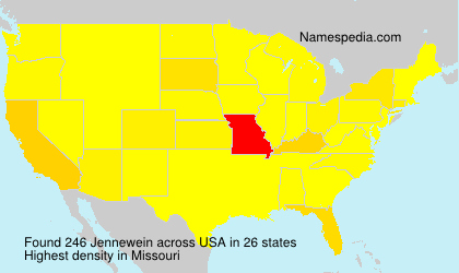 Surname Jennewein in USA