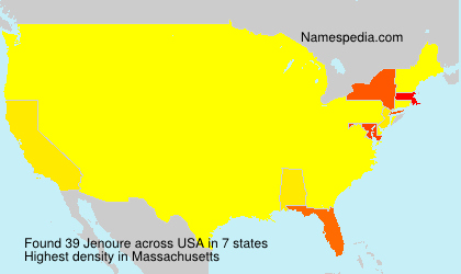 Surname Jenoure in USA