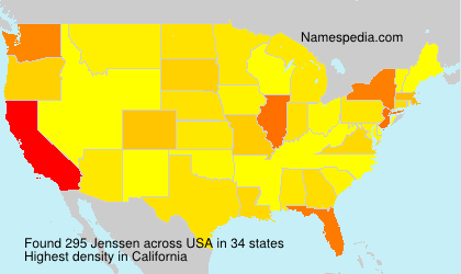 Surname Jenssen in USA
