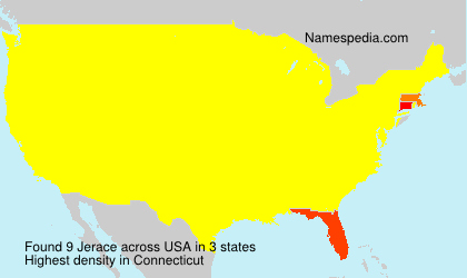 Surname Jerace in USA