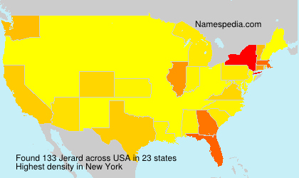 Surname Jerard in USA