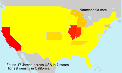 Surname Jercha in USA
