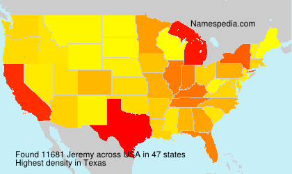 Surname Jeremy in USA