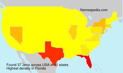 Surname Jeria in USA