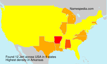 Surname Jerl in USA