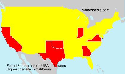 Familiennamen Jerra - USA