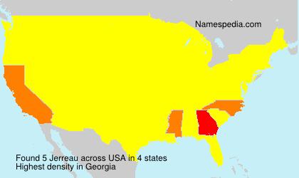 Surname Jerreau in USA