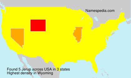 Surname Jerup in USA